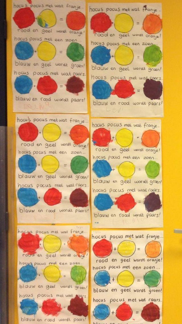 Rijmpjes over het mengen van kleuren