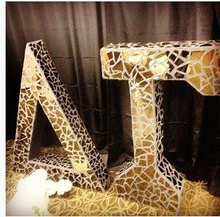 Broken Glass DIY Letters!   Community Post: 13 Sorority Gifts For Your New Little