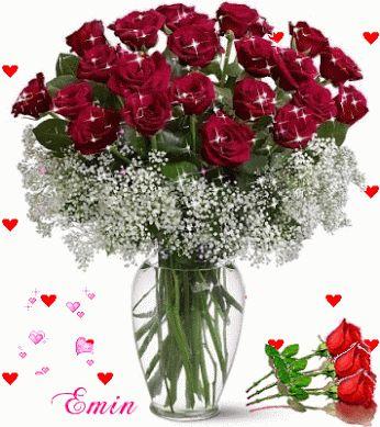 Ramillete de Imágenes románticas de rosas rojas de amor con movimiento y brillo para regalar en un momento especial a la persona que mas amas en la vida