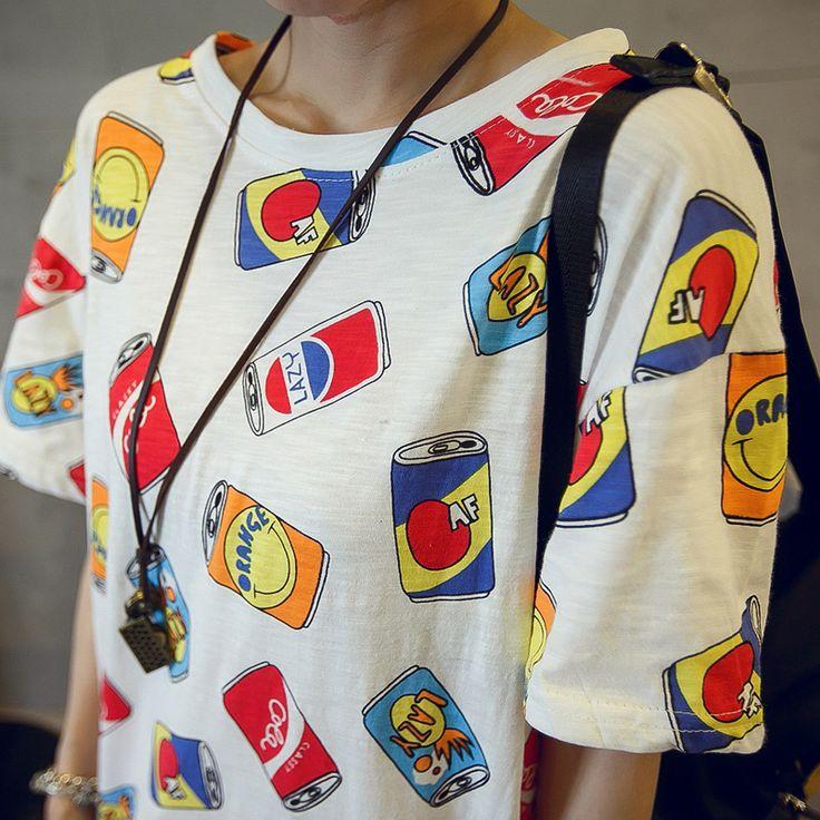 Купить товар2016 летний корейский может напечатать футболку femme roupa одежда для женщин женские футболки tumblr poleras mujer camisetas футболки в категории Футболкина AliExpress. Summer 2016 T-shirts for women slash neck  tee shirt femme camisetas poleras de mujer tshirt female t shirts off shoulde