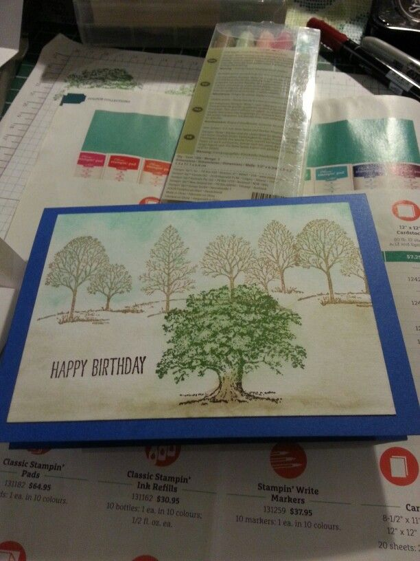 Lovely as a tree. Stampin up.