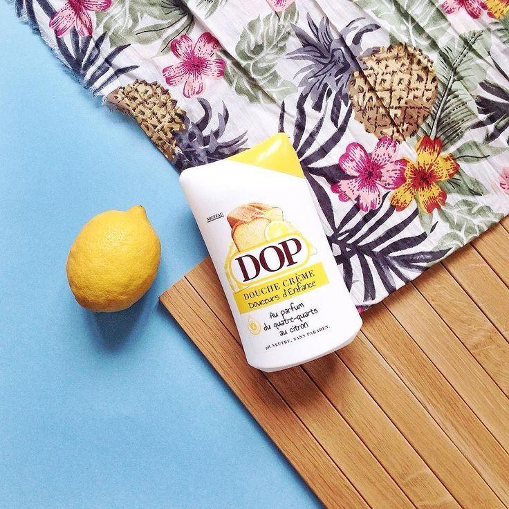 Tous les matins j'ai l'impression de me lover dans un gros quatre-quarts au citron géant avec ce gel douche @dop_france #goodmorning #lemon by leblogdartlex