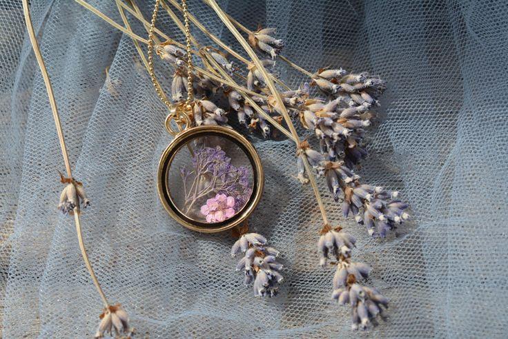 Bloemen sieraden - Echte Droge Bloemen medaillon - Een uniek product van PerfectPresent op DaWanda