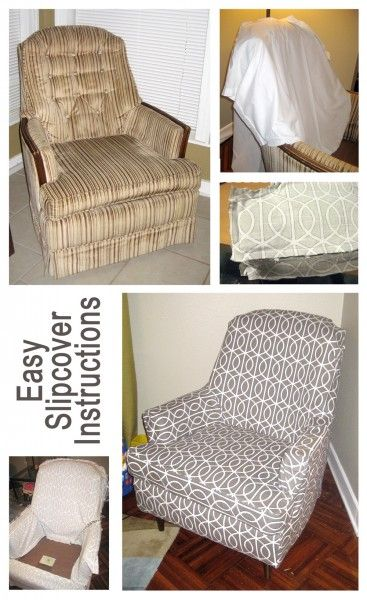 Easy Slip Cover Instructions! Once i have the money would love to do two living room furniture and bedroom chair.
