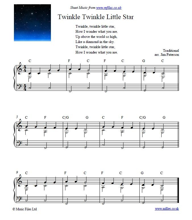 Twinkle Twinkle Little Star Free Sheet Music For Piano: 38 Best KIDS SHEET MUSIC Images On Pinterest