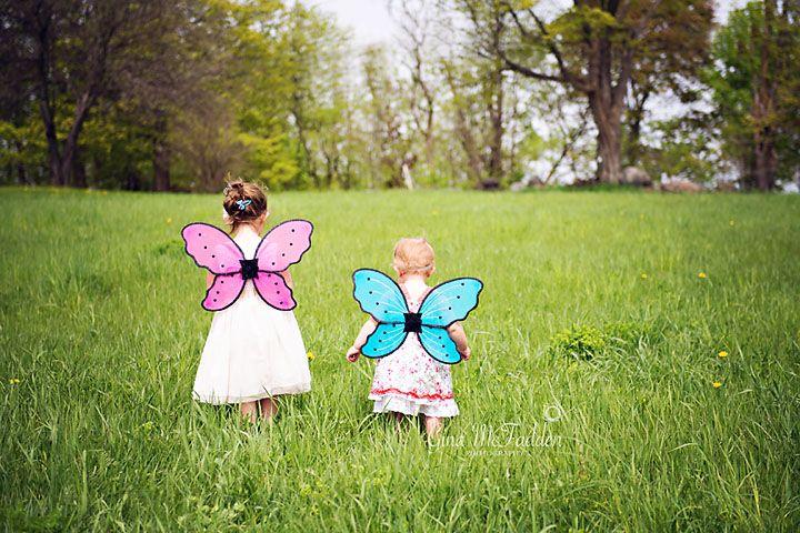 Siblings!  Sweet little butterflies!