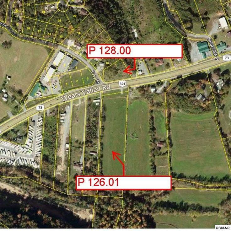 TWO COMMERCIALLY ZONED PARCELS ... on either side of Wears Valley Rd (US 321) in Pigeon Forge city limits! Located on one of the areas busy highways close to main the Parkway in Pigeon Forge.  Zoned C-6, Mixed-Use Commercial.  City utilities available. Parcel 126.01 is 4.86 LEVEL to GENTLY SLOPING ACRES with a creek running along the back border of the property.   Some of the acreage lies in FEMA flood risk zones.  Approximately 1.83 frontage acres lie outside the FEMA flood risk areas…