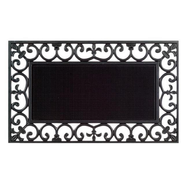Traypin Black Door Mat (30 x 18) (Rubber)