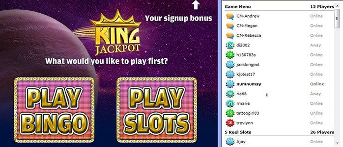 King Jackpot UK – £20 Free NO Deposit Bonus http://www.perfectbingosites.co.uk/king-jackpot-uk/ Online since 2007 and powered by Leap Frog Gaming software, this bingo site offers 75 and 90-ball bingo, video poker, slots and more For more update please visit at my gaming site http://www.perfectbingosites.co.uk/new-bingo-sites/   king jackpot bingo, best new online bingo sites UK, top new online bingo sites UK, best bingo offers, free bingo sites, no deposit bingo sites, mobile bingo sites…