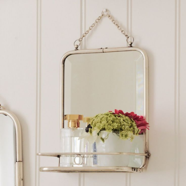 Carriage Mirror With Shelf Small At 26cmx20cm Only 163 60