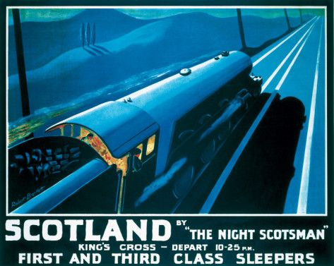 """""""The Night Scotsman"""" First & Third Class Sleepers ~ Kings Cross http://www.allposters.com/-sp/The-Night-Scotsman-Posters_i7612777_.htm"""