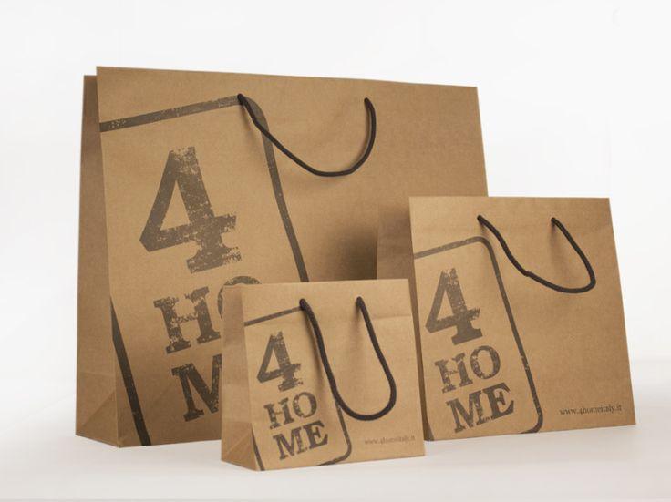 Avana paper bag for 4HOME / Giustacchini Packaging