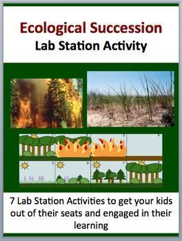 This fully editable Lab Station on Ecological Succession is meant to get your students out of their seats and engaged in the content. Each station not only offers a unique opportunity to test your students' knowledge (offer an opinion, answer questions based on a video or reading, draw, etc.), but also provides a fantastic learning opportunity where your kids are learning through assessment. Each station comes with a description card while some also contain more detailed instructions, a read