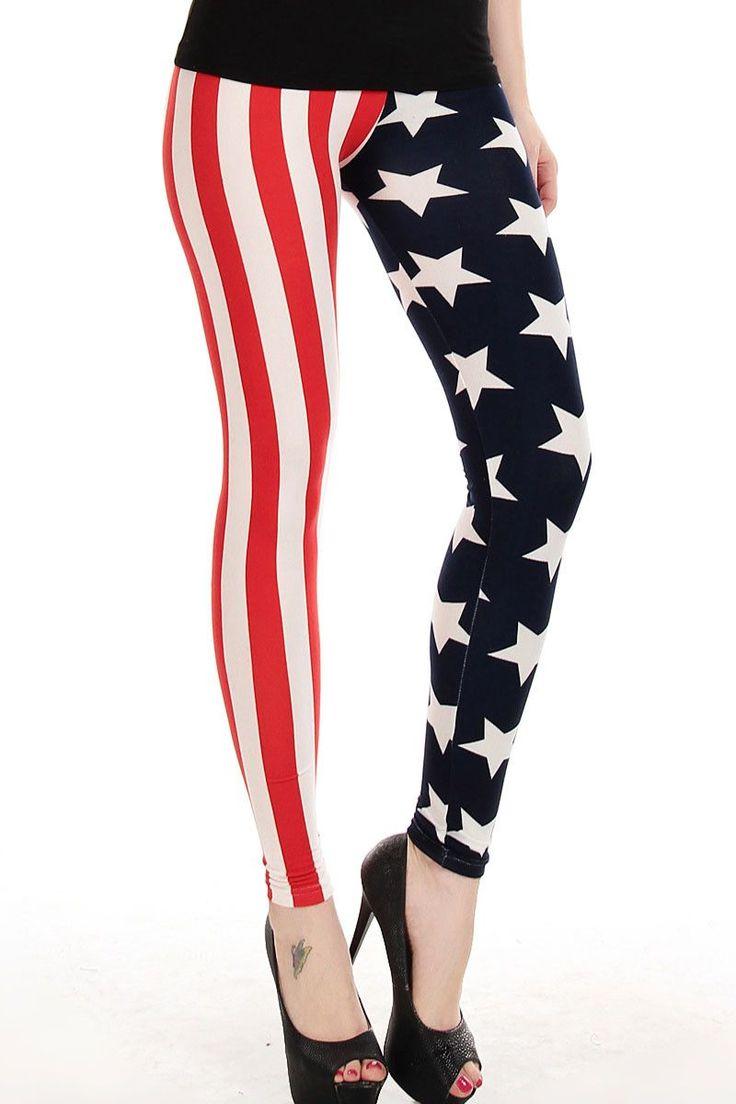Leggings Mode Stars And Stripes Print Legging Pas Cher www.modebuy.com @Modebuy #Modebuy #CommeMontre #me #sexy #ilovemyfollowersfashion
