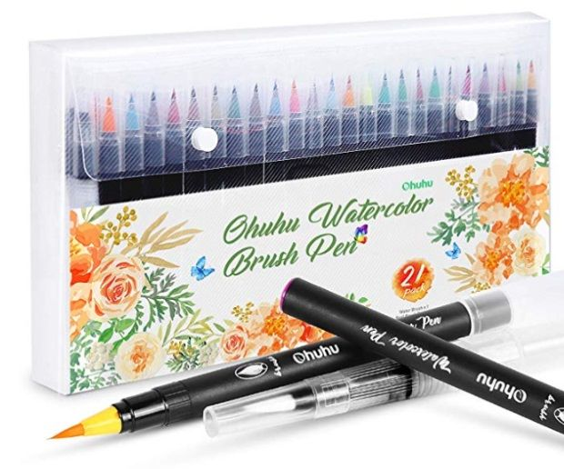 Ohuhu 20 Watercolor Brush Pens Watercolor Brush Pen Brush Pen