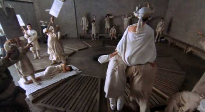 The Persecution and Assassination of Jean-Paul Marat as Performed by the Inmates of the Asylum of Charenton Under the Direction of the Marquis de Sade. The Royal Shakespeare Company. Director: Peter Brook. 1965