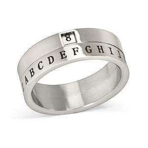 Decoder rings for adults. I love funky rings like this.