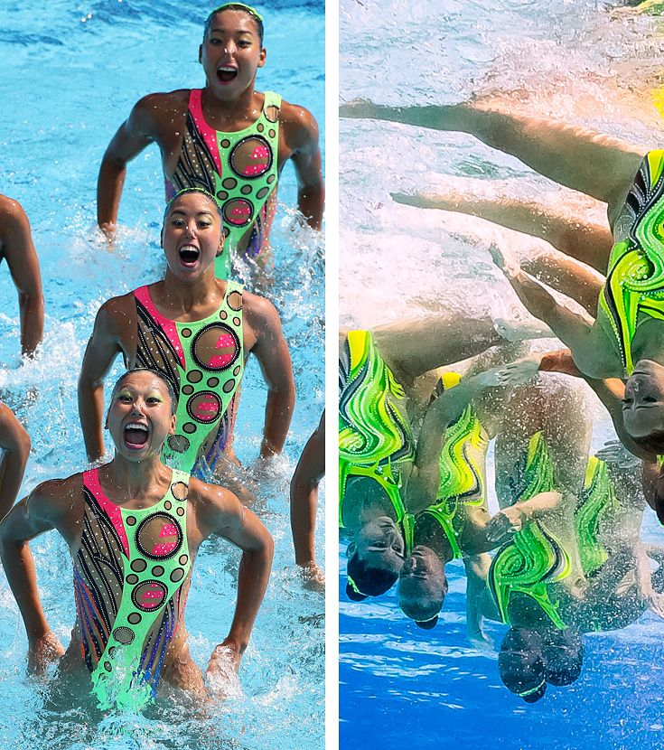 These Routines In The Olympic Synchronised Swimming Will Give You Intense…