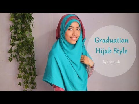 Hijab Syar'i Tutorial: Graduation | triadilah - YouTube