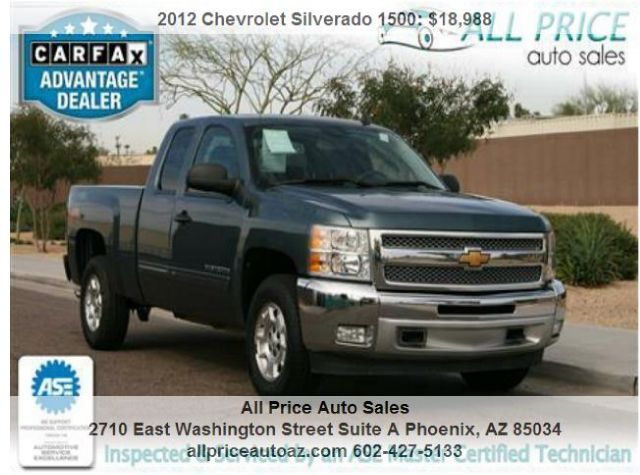 For Sale 2012 Chevrolet Silverado 1500 LT Price: $18,988 Tags: find, used, trucks, for, sale, phoenix, pickup, az, arizona, truck, dealership