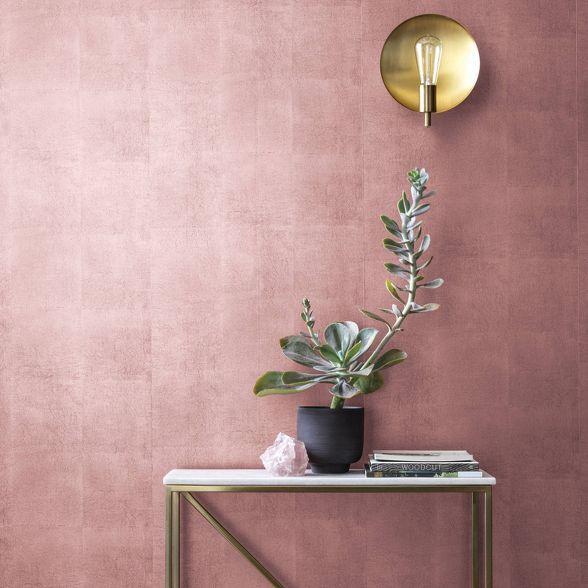 Metallic Leaf Peel Stick Wallpaper Pink Project 62 Peel And Stick Wallpaper Wallpaper Project Gold Painted Walls