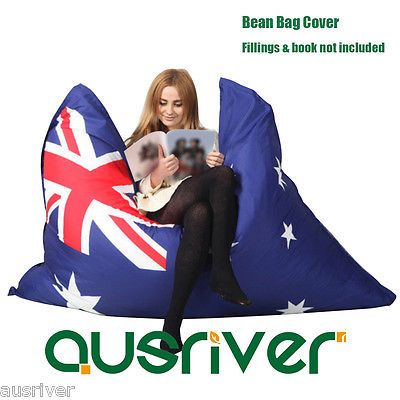 Large bean bag #cover living room furniture reading #relaxing chair #australia fl,  View more on the LINK: http://www.zeppy.io/product/gb/2/122171759126/