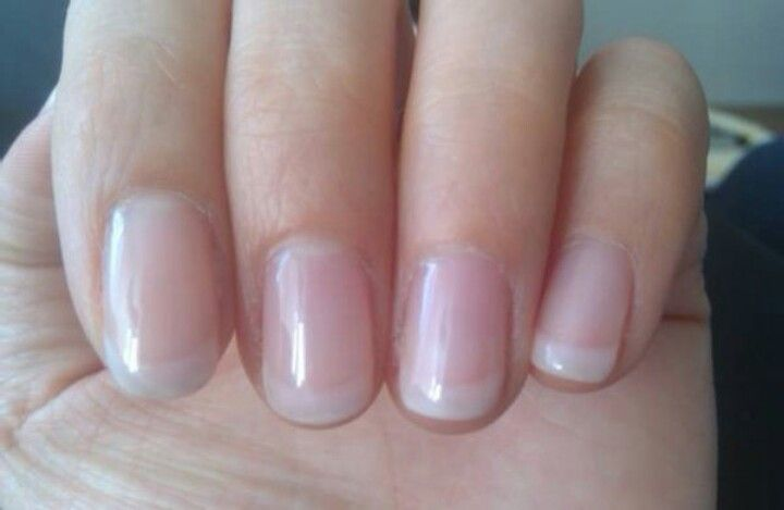American manicure- softer than French. I need to do my nails today, maybe ill try something different?