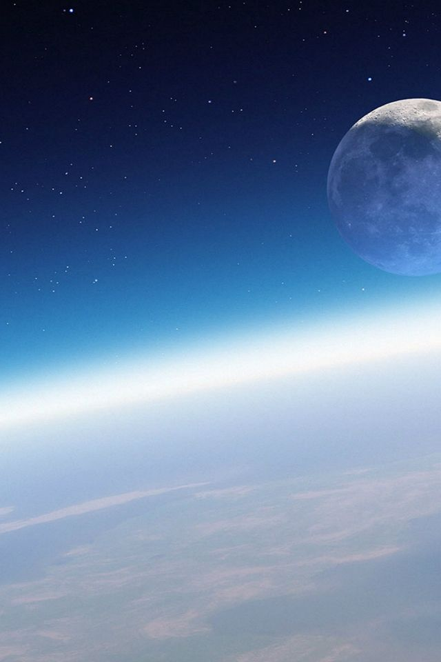 Moon Orbit Fantasy Outer Space #iPhone #4s #wallpaper