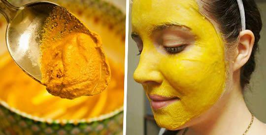 Maschera viso alla curcuma contro le macchie scure | Rimedio Naturale