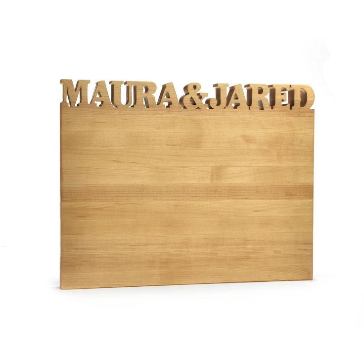 Words With Boards makes this personalized cutting board, making a special wedding gift for any couple.