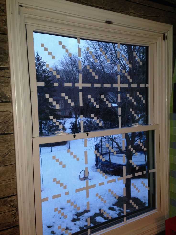 Window with electrical tape -VERY easy