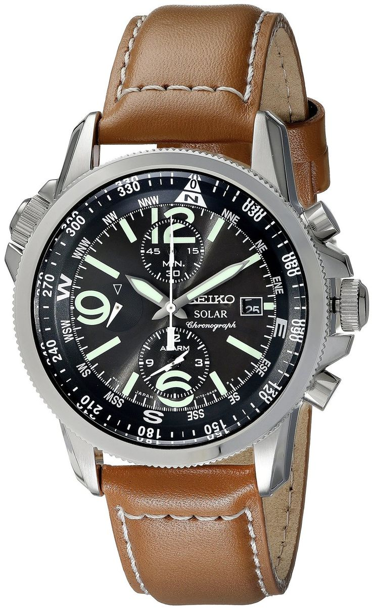men watches Seiko Men's SSC081 Adventure-Solar Classic Casual Watch Best seiko under 200