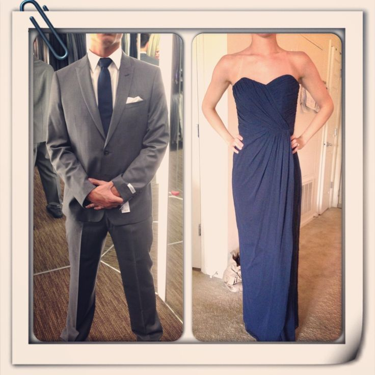 The groomsmen and bridesmaids outfits for our wedding! Midnight blue