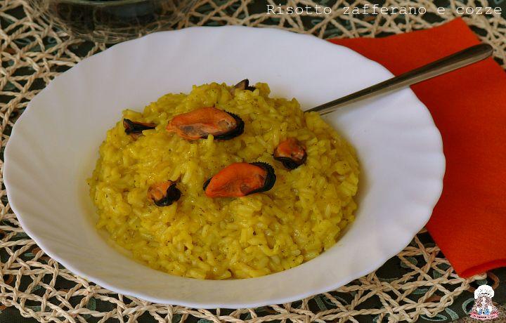 Risotto zafferano e cozze piatto delicato e gustoso