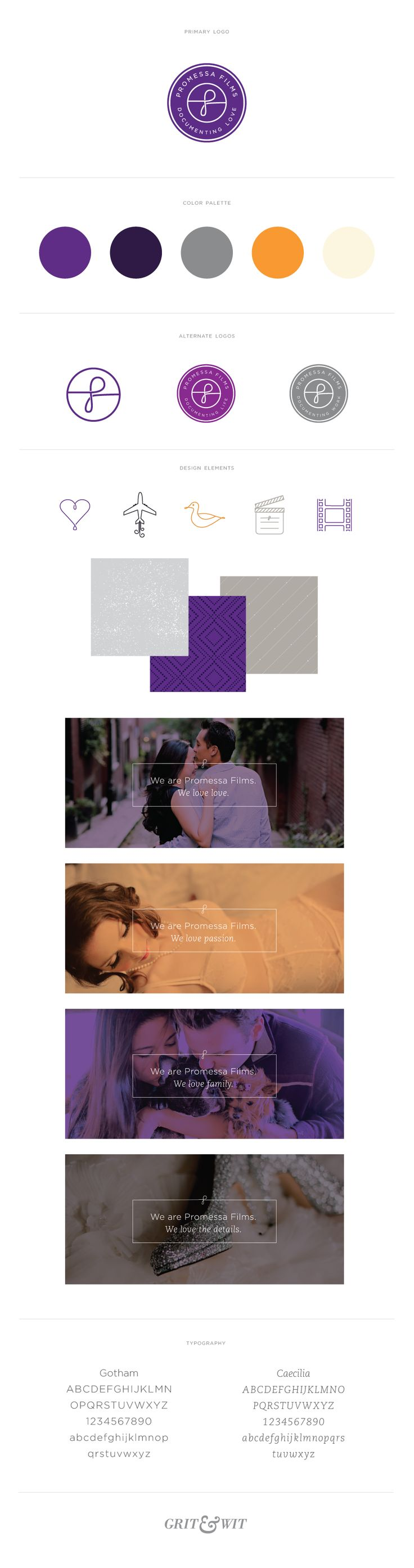 Promessa Films // Grit & Wit // Brand Design for Brave Businesses #branding