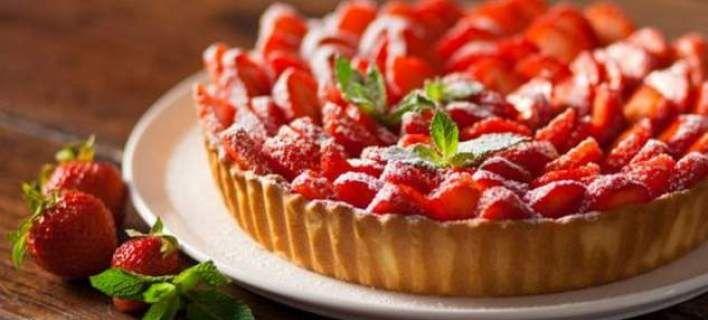 Τάρτα με φράουλες, εύκολη