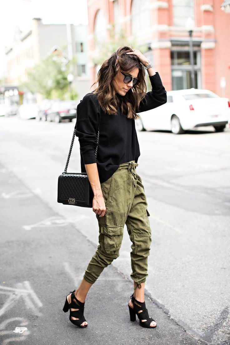 Cargo Pants and Chunky Heels