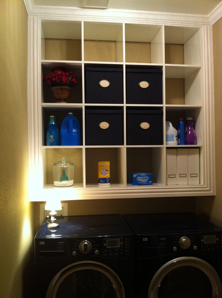 Ikea Expedit Book Case Turned Built In Laundry Room