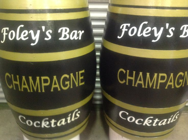 Foley's Bar branded barrel done by RKD Floral displays