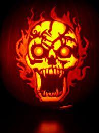 skull pumpkin template - Google Search