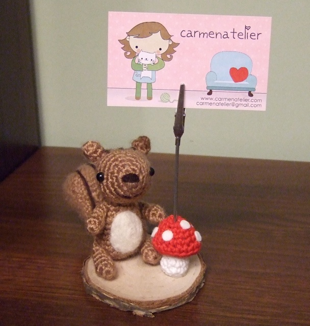 Amigurumi Ardilla - Squirrel by carmenatelier, via Flickr  #naturadmc