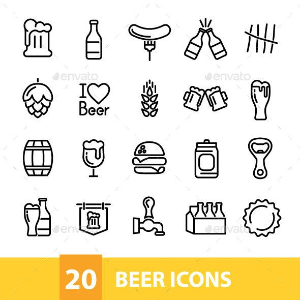 20 Beer Icons Beer Icon Beer Bottle Drawing Beer Tattoos