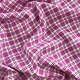 Rosa kariert Winceyette Gewebe der Uni 100% gebürsteter Baumwolle Flanell Biber 114,3cm 114cm breit–Meterware
