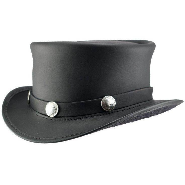 El Dorado Leather Steampunk Top Hat - Black