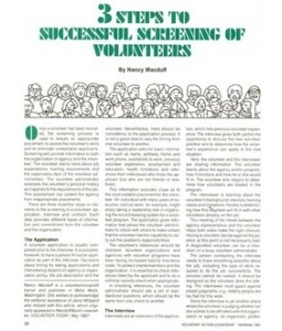 3 Steps to Screening