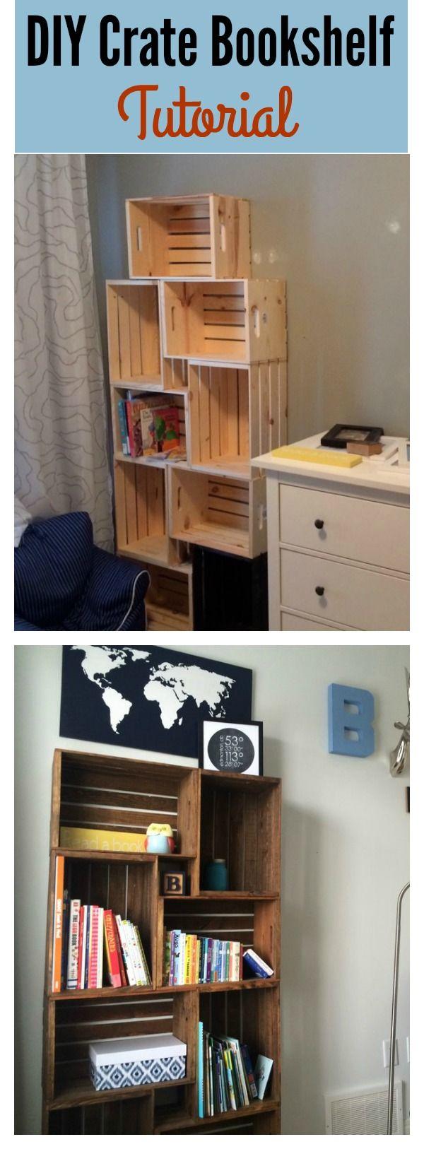 Id id ideas de cocina de los pa ses de bricolaje - Diy Crate Bookshelf