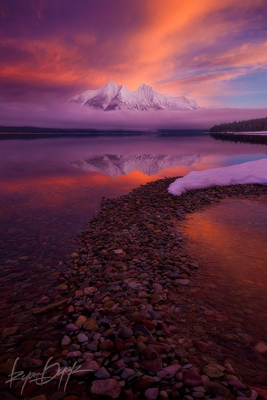~~A Portrait of a Mountain ~ sunrise, Stanton Mountain and Lake McDonald, Glacier National Park, Montana by Ryan Dyar~~