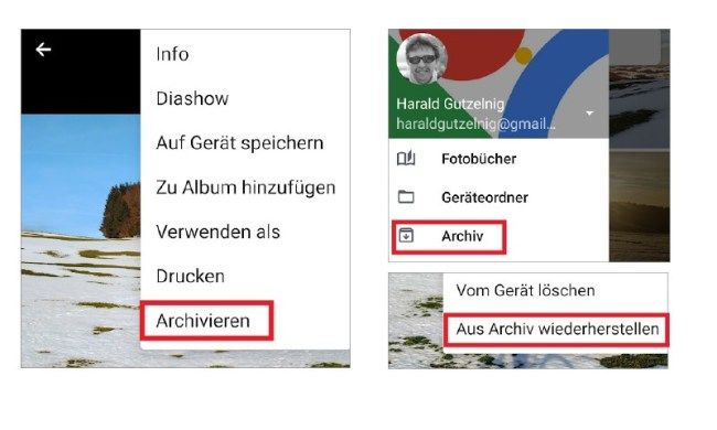 Google Foto Tipp Fotos Ins Archiv Verschieben Androidmag Archiv Verschoben Fotos