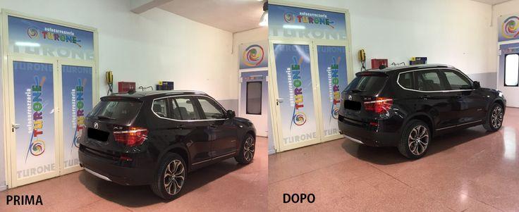 PELLICOLE OSCURANTI : BMW X3 PRIMA E DOPO  Tonalità medio-chiara posteriori e chiara anteriori. http://www.turone.it
