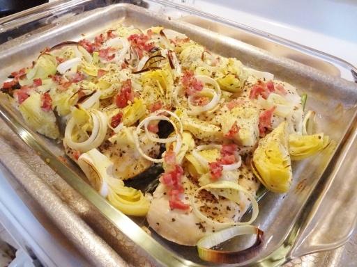 Artichoke Chicken with Asparagus Paleo; Free of: gluten, soy, dairy, eggs, yeast, grain, sugar